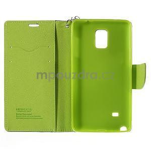 Stylové peňaženkové puzdro na Samsnug Galaxy Note 4 -  tmavomodre - 6