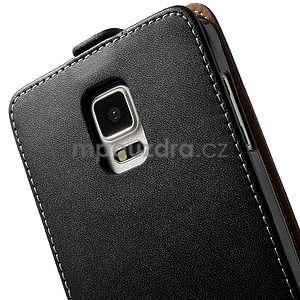 Flipové puzdro pre Samsugn Galaxy Note 4 - čierne - 6