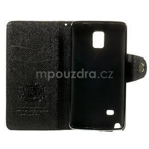 Zapínací peneženkové poudzro Samsung Galaxy Note 4 - čierne - 6