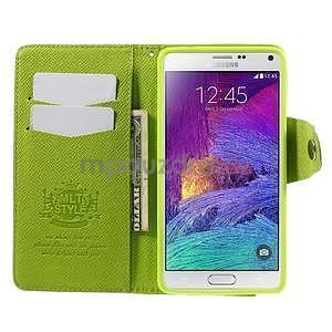 Zapínací peneženkové poudzro Samsung Galaxy Note 4 - zelené - 6