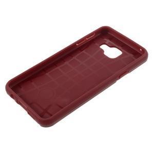 Odolný ochranný obal 2v1 pre mobil Samsung Galaxy A3 (2016) - červený - 6