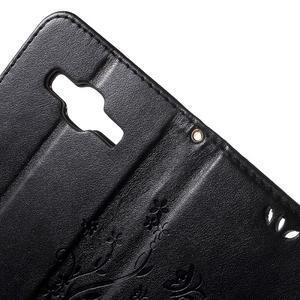 Butterfly PU kožené puzdro pre Samsung Galaxy Core Prime - čierne - 6
