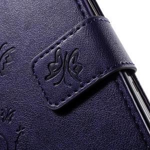 Butterfly PU kožené pouzdro na Samsung Galaxy Core Prime - fialové - 6