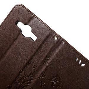 Butterfly PU kožené puzdro pre Samsung Galaxy Core Prime - coffee - 6