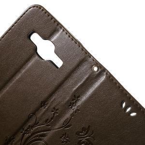 Butterfly PU kožené puzdro pre Samsung Galaxy Core Prime - hnedé - 6