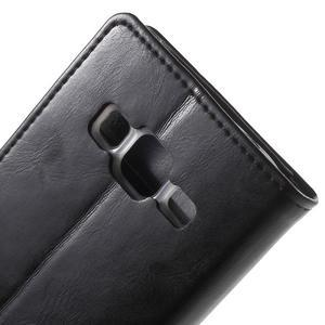 Moon PU kožené puzdro pre mobil Samsung Galaxy Core Prime - čierne - 6