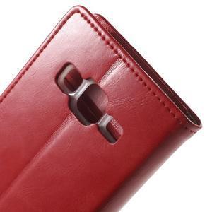 Moon PU kožené pouzdro na mobil Samsung Galaxy Core Prime - červené - 6