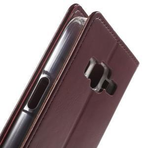 Moon PU kožené puzdro pre mobil Samsung Galaxy Core Prime - vínové - 6