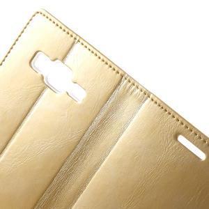 Moon PU kožené puzdro pre mobil Samsung Galaxy Core Prime - zlaté - 6