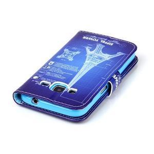 Emotive peňaženkové puzdro pre Samsung Galaxy Core Prime - Eiffelova veža - 6