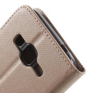 Clothy peňaženkové puzdro pre Samsung Galaxy Core Prime - champagne - 6