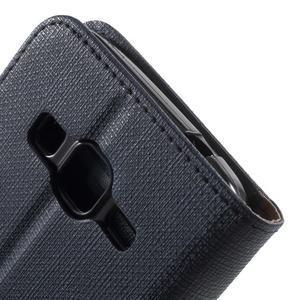 Clothy peněženkové pouzdro na Samsung Galaxy Core Prime - tmavěmodré - 6