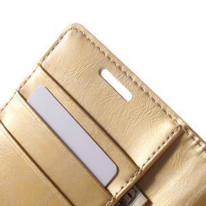 Moonleather PU kožené puzdro pre Samsung Galaxy Core Prime - zlaté - 6