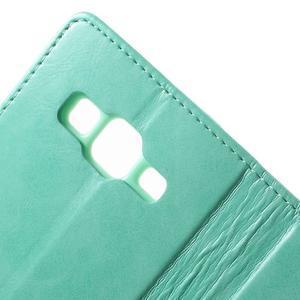 Moonleather PU kožené puzdro pre Samsung Galaxy Core Prime - azúrové - 6
