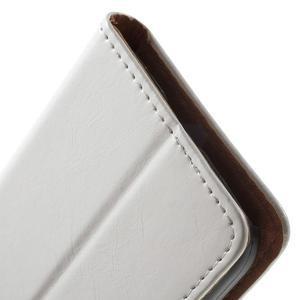 Horse PU kožené puzdro pre mobil Samsung Galaxy Core Prime - biele - 6