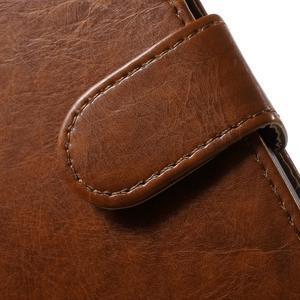 Horse PU kožené puzdro pre mobil Samsung Galaxy Core Prime - hnedé - 6