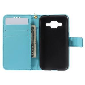 Croco peňaženkové puzdro pre Samsung Galaxy Core Prime - modré - 6