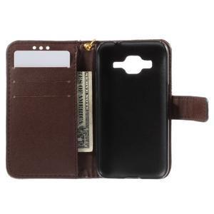 Croco peňaženkové puzdro pre Samsung Galaxy Core Prime - coffee - 6