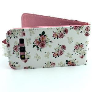 Flipové puzdro pre mobil Samsung Galaxy Core Prime - kvety - 6