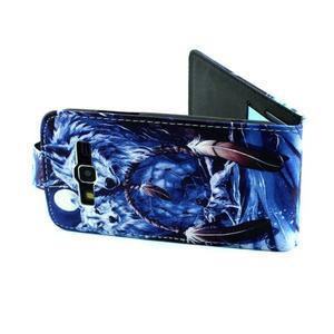 Flipové puzdro pre mobil Samsung Galaxy Core Prime - magický vlci - 6