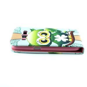 Flipové puzdro pre mobil Samsung Galaxy Core Prime - sovička - 6