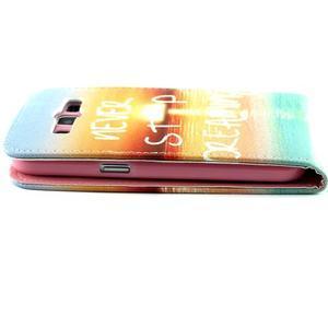 Flipové puzdro pre mobil Samsung Galaxy Core Prime - neprestávaj  snívať - 6