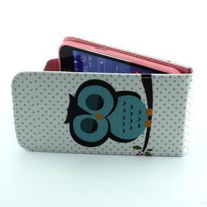 Flipové puzdro pre mobil Samsung Galaxy Core Prime - sova - 6