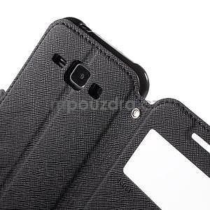 Kožené puzdro s okýnkem Samsung Galaxy J1 - čierné - 6
