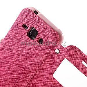 Kožené puzdro s okienkom Samsung Galaxy J1 - rose/ružové - 6