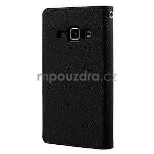 Čierné kožené puzdro pre Samsung Galaxy J1 - 6