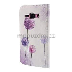 Zapínací puzdro pre Samsung Galaxy J1 - fialová púpava - 6