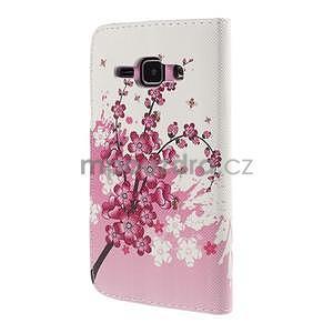 Zapínací puzdro pre Samsung Galaxy J1 - kvetoucí větvička - 6