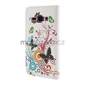 Zapínací puzdro pre Samsung Galaxy J1 - motýlci - 6