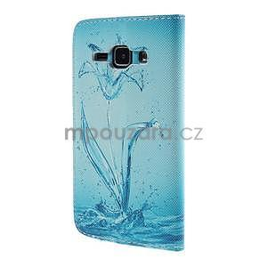 Zapínací puzdro pre Samsung Galaxy J1 - vodní kvetina - 6