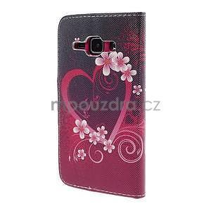 Zapínací puzdro pre Samsung Galaxy J1 - květinové srdce - 6