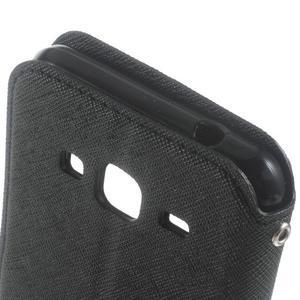 Roar PU kožené puzdro s okienkom pre Samsung Galaxy J3 (2016) - čierne - 6