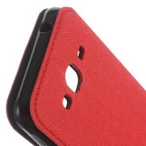 Roar PU kožené puzdro s okienkom pre Samsung Galaxy J3 (2016) - červené - 6