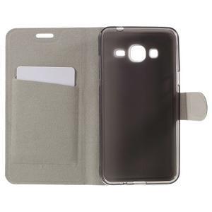 Horse PU kožené penženkové puzdro pre Samsung Galaxy J3 (2016) - biele - 6