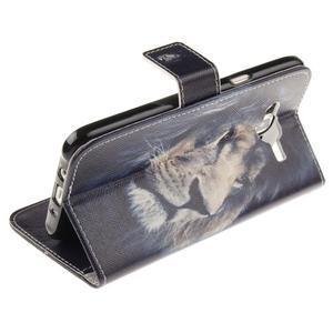 Standy peňaženkové puzdro pre Samsung Galaxy J5 - lev - 6