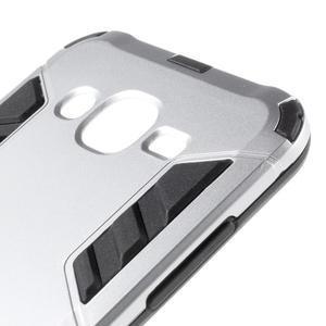 Odolný kryt 2v1 se stojánkem na Samsung Galaxy J5 - stříbrný - 6