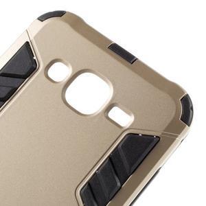 Odolný kryt 2v1 se stojánkem na Samsung Galaxy J5 - zlatý - 6
