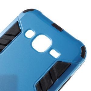 Odolný kryt 2v1 so stojanom pre Samsung Galaxy J5 - modrý - 6
