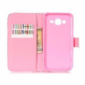 Pictu peňaženkové puzdro pre Samsung Galaxy J5 - kvety - 6