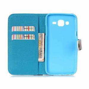 Pictu peňaženkové puzdro pre Samsung Galaxy J5 - farebné lístky - 6