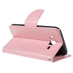 Peňaženkové puzdro pre mobil Samsung Galaxy J5 - ružové - 6