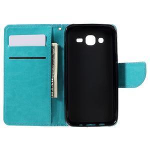 Peňaženkové puzdro pre mobil Samsung Galaxy J5 - modré - 6