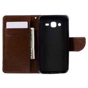 Peňaženkové puzdro pre mobil Samsung Galaxy J5 - hnedé - 6