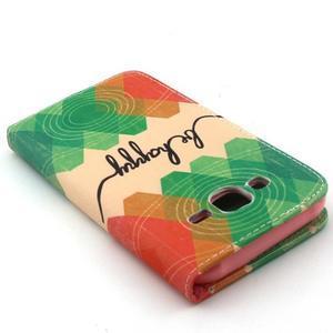 Knížkové puzdro pre mobil Samsung Galax J5 - be happy - 6
