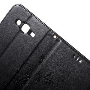 Butterfly PU kožené pouzdro na Samsung Galaxy J5 - černé - 6