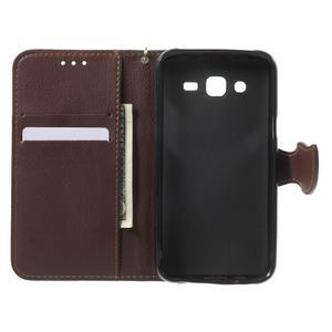 Leaf peňaženkové puzdro pre Samsung Galaxy J5 - červené - 6